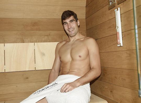 Následoval i relax v sauně.