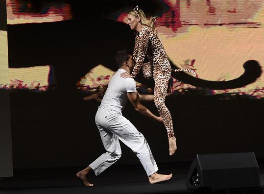 Při volné disciplíně tančil.