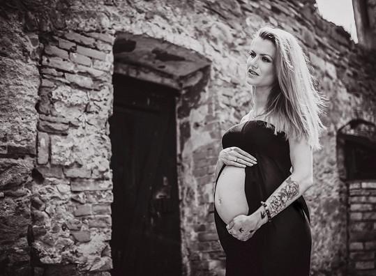 Gabriela Soukalová měsíc před porodem.