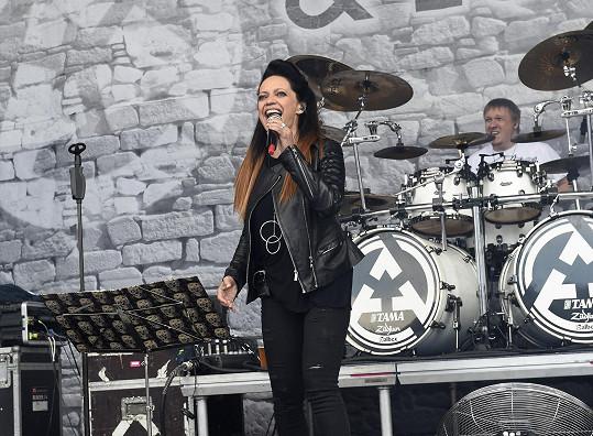 Lucie Bílá vystoupila na letním kulturním festivalu na Točníku.