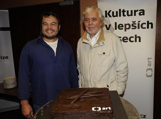 Josef Abrhám a jeho syn Josef představili dokument o Činoherním klubu, který odvysílá ČT art.