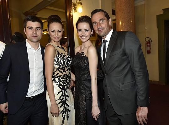 S Romanem a Monikou Leovou a jejím partnerem