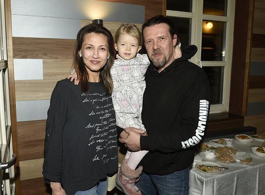 Martin s manželkou a dcerou