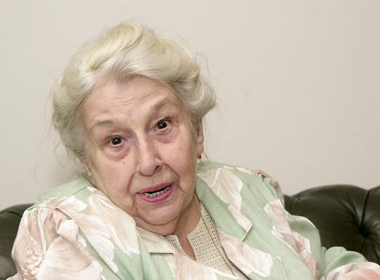 Herečka zemřela v roce 2005.