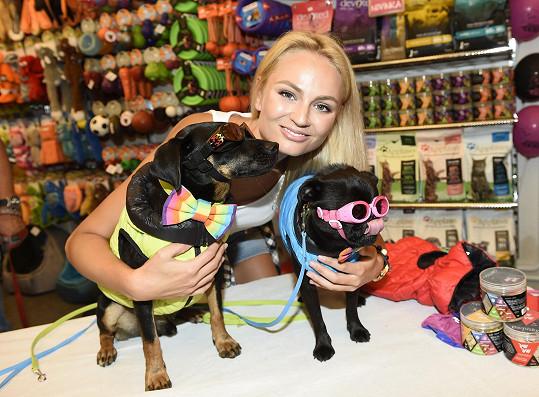 Tereza Fajksová prezentovala akci na záchranu opuštěných psů.