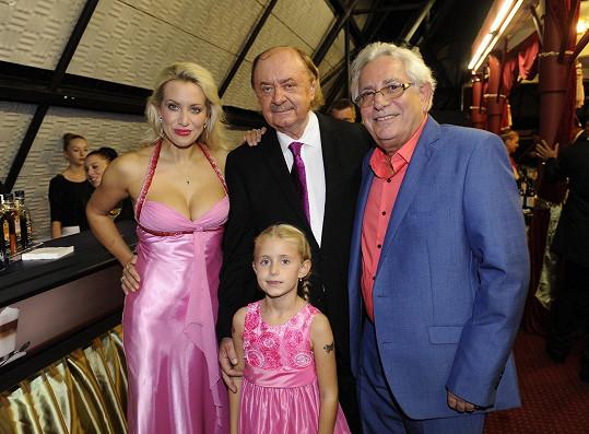 S partnerem Františkem Janečkem a dcerou Emily