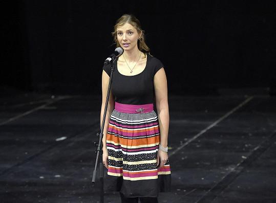 Monika Sommerová při konkurzu na Fantoma opery