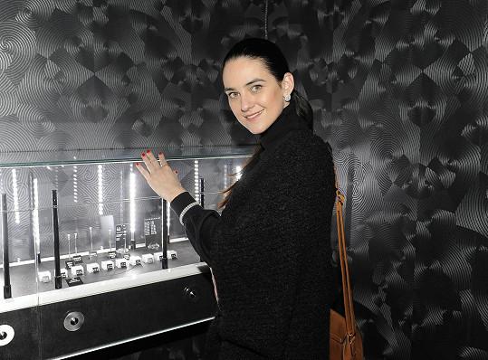 Libuška Vojtková na otevření muzea diamantů