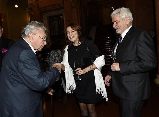 Zlata s bývalým tchánem Vadimem Petrovem a manželem Petrem Štěpánkem
