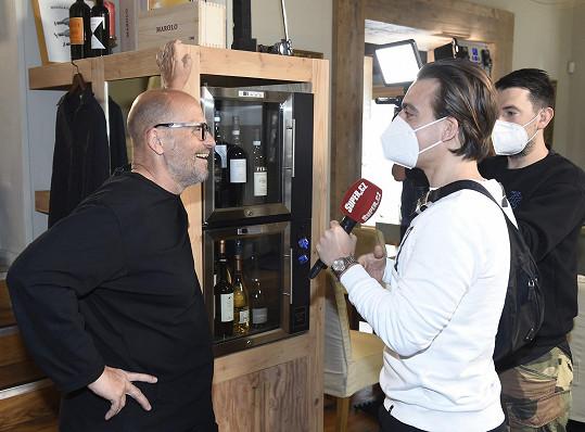 Zdeněk Pohlreich během rozhovoru ve své restauraci pro Super.cz