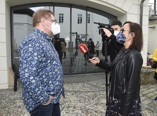 Václav Kopta při rozhovoru se Super.cz