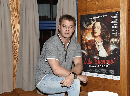 Filip Renč s filmovým plakátem