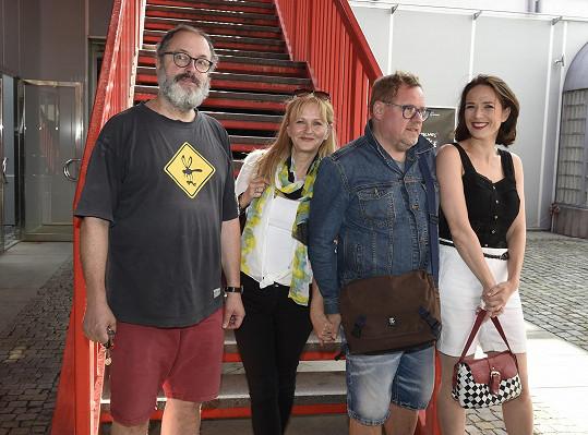 Sešli se i s kolegy na představení programu Letní scény pod žižkovskou věží.