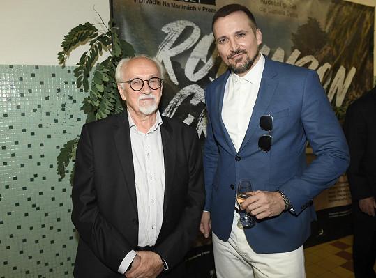 S režisérem představení Václavem Knopem.