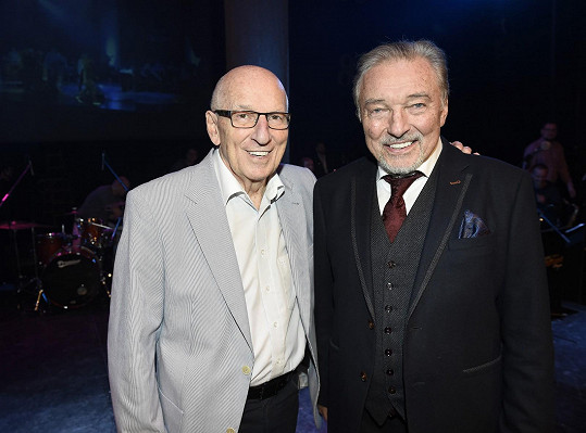 Karel Gott a Karel Štědrý jsou dlouholetí přátelé a kolegové.
