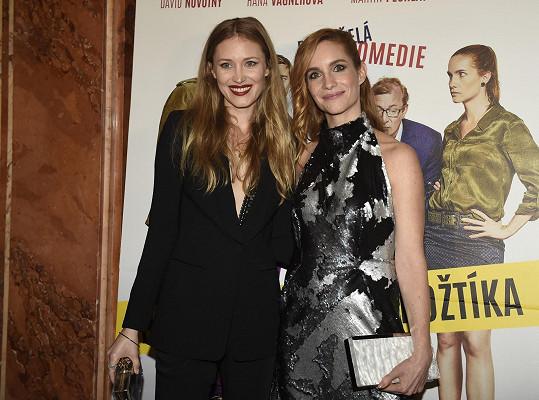 S filmovou kolegyní Hanou Vagnerovou se spřátelily.
