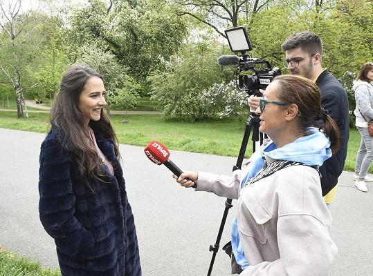 Eva při rozhovoru se Super.cz