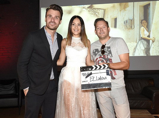Eliška na křtu singlu a videoklipu s Leošem Mareš a Matějem Ruppertem