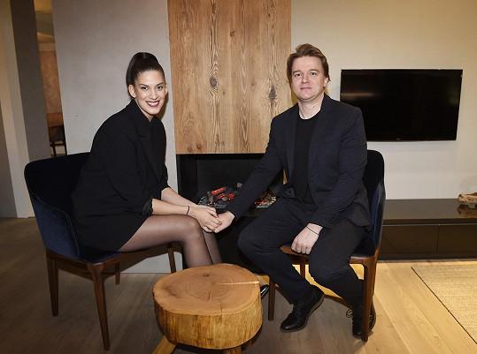 S partnerem Petrem Kolečkem, který bude pravděpodobně u porodu.