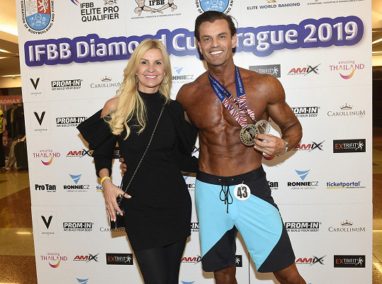 Tamara s partnerem Romanem Hajabáčem, který na Diamond cupu vybojoval stříbrnou medaili.