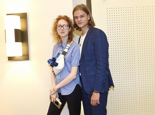 Barbora s modelem Oliverem Průchou
