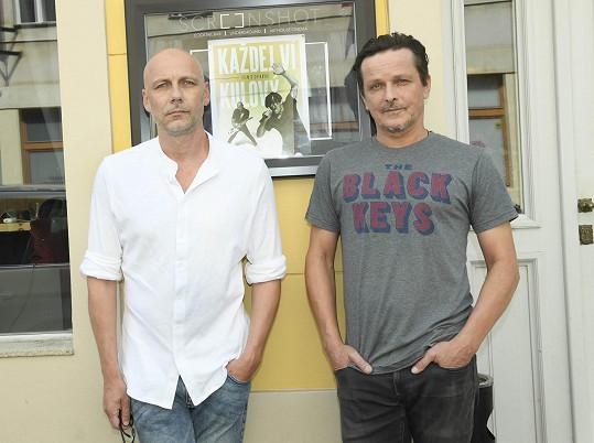 Michal s Františkem Táborským, který je jeho nestarším souputníkem v kapele.