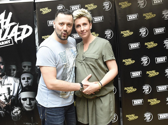 Michal se Zuzanou na křtu bubenického projektu Groove Army