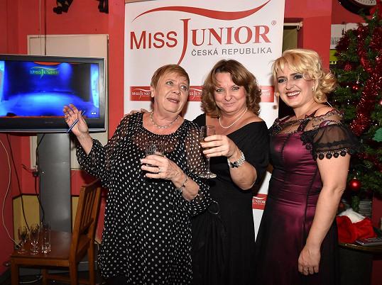 S Miluškou Bittnerovou a Jaroslavou Obermaierovou na soutěži Miss Junior
