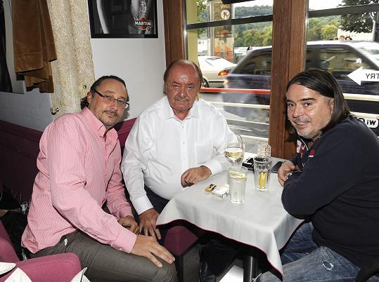 Marian s producenty Františkem Janečkem a Oldřichem Lichtenbergem