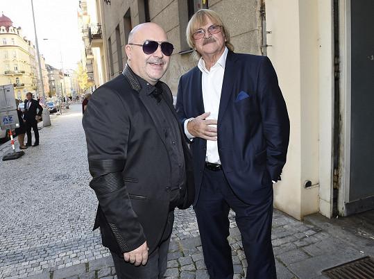 S Michalem Davidem na udílení cen