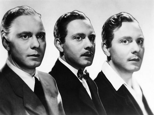 Jan Pivec a jeho tři podoby ve filmu Muži nestárnou.