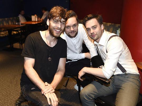 Ondřej s Romanem Tomešem, pro nějž natočil videoklip.