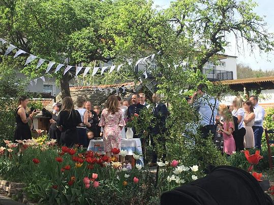 Svatba proběhla v Praze.