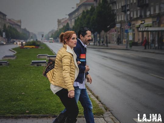 Jiří Langmajer a Hana Vagnerová v seriálu Lajna