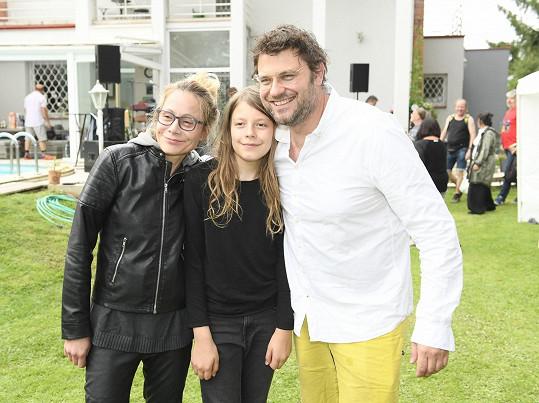 Petr Svoboda s rodinou
