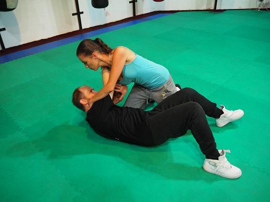 Veronika zatočila se svým trenérem.