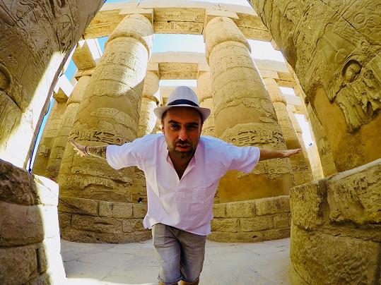 Vyjeli si i na výlet do Luxoru.
