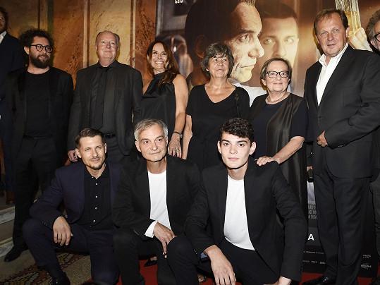 Delegace filmu Šarlatán včetně režisérky Agnieszky Holland (druhá zprava).