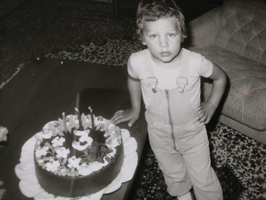 Michal na oslavě svých třetích narozenin.