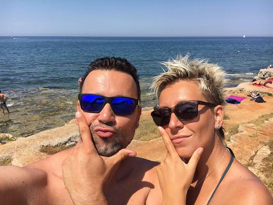 Michal Kavalčík a jeho přítelkyně Zuzana si užívali dovolenou v Chorvatsku.