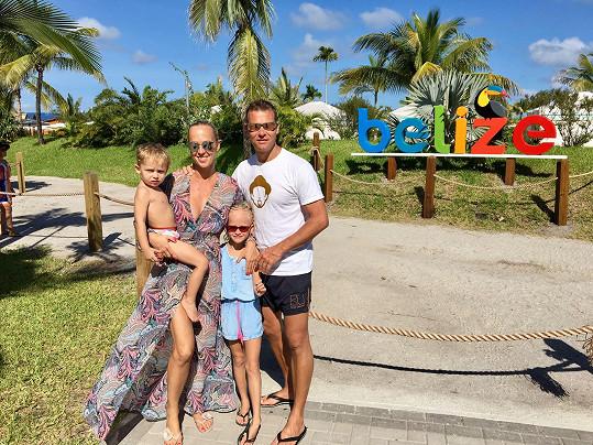 Rodinné foto z dovolené v Belize