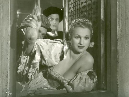 Ve filmu Cech panen kutnohorských jako Rozina skončila na pranýři.