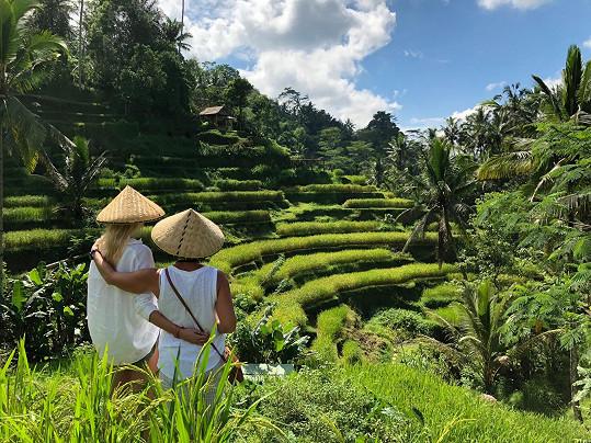 Dovolenou na Bali tráví Zuzana s maminkou.