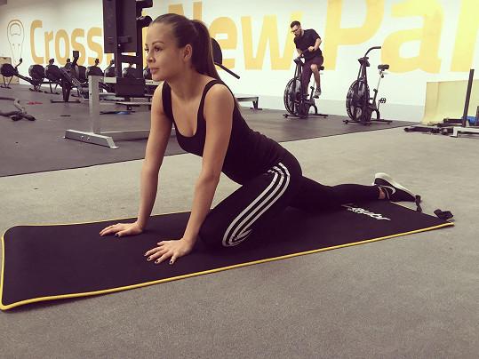 Monika Bagárová se do cvičení občas musí nutit, ale dřina se vyplácí.