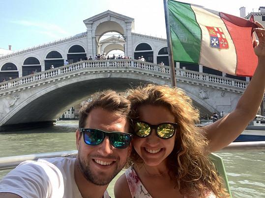 Manželé vyrazili i do Benátek.