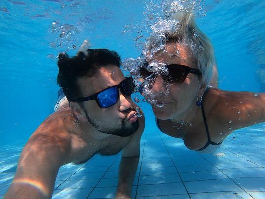 Michal Kavalčík se svou partnerkou Zuzanou