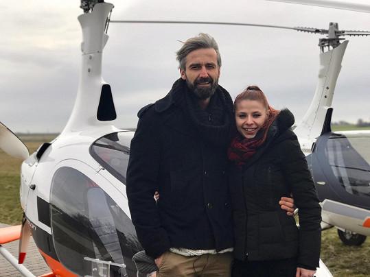 Roman Zach a Andrea Třeštiková přiletěli na StarDance vírníkem.
