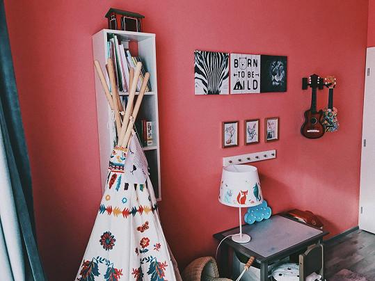 V pokojíčku má dcera i indiánské tee-pee.