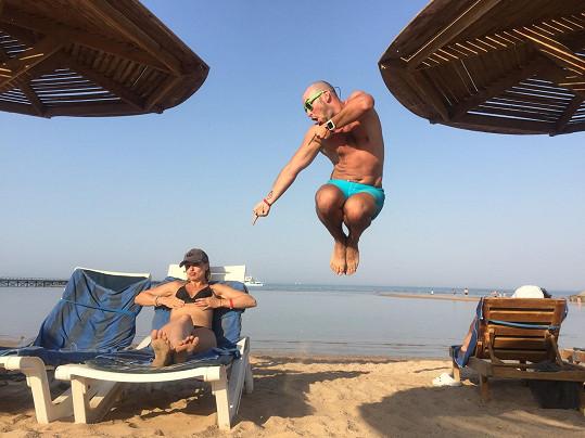 Charlotte Doubravová a Přemysl Pálek si užívali dovolenou v Egyptě.
