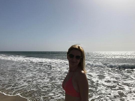 Terezie Kašparovská si užívá dovolenou na Kanárech.